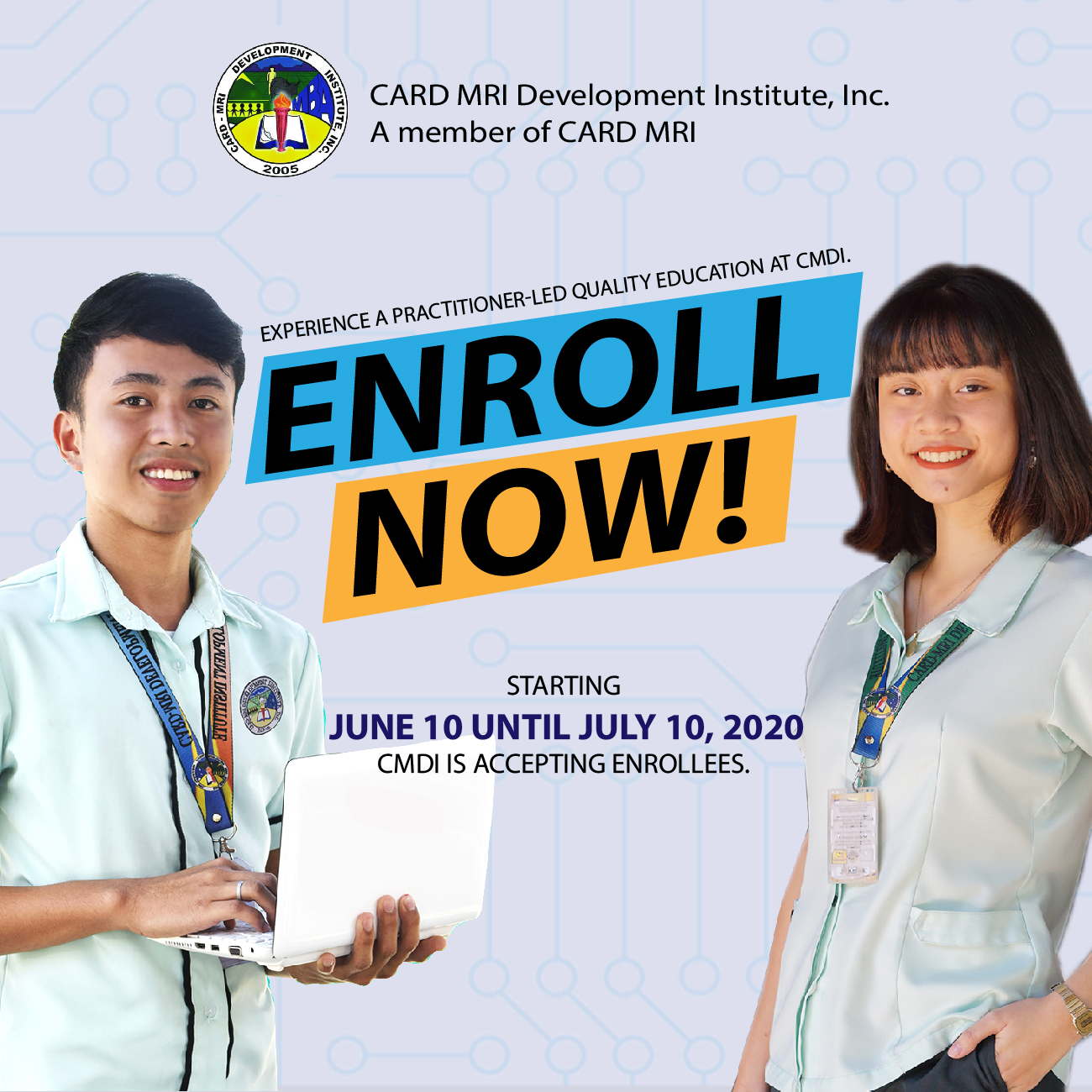 CMDI Enrollment Procedures and Learning Modalities SY 2020-2021